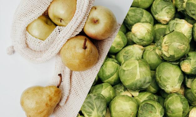 Rosenkohlsalat mit Birne und Zimt